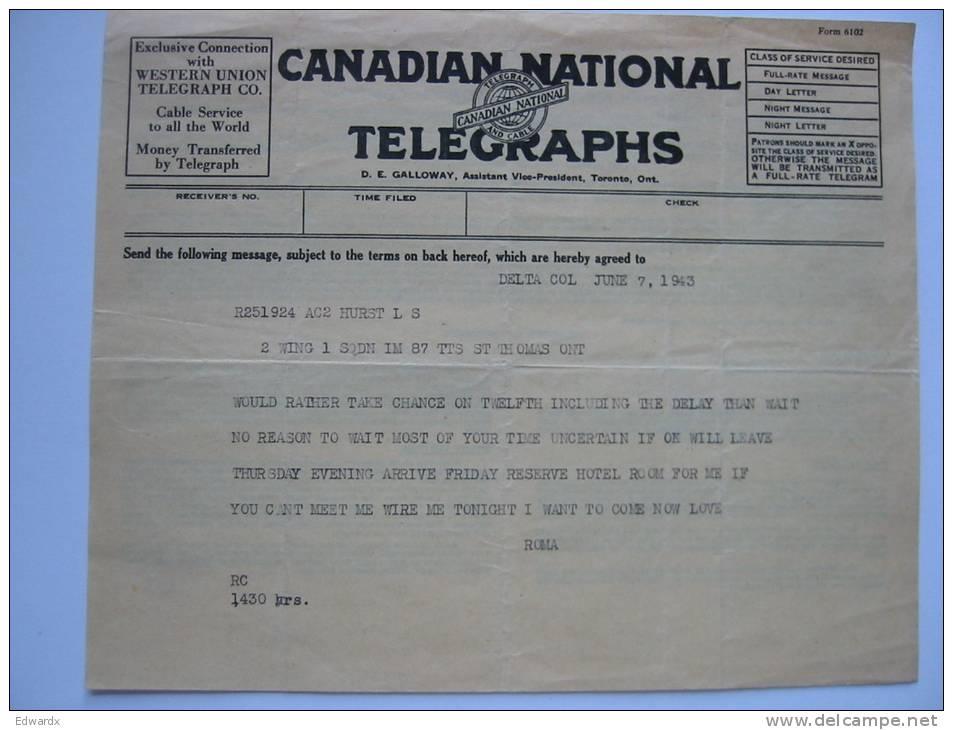 1943 Telegram