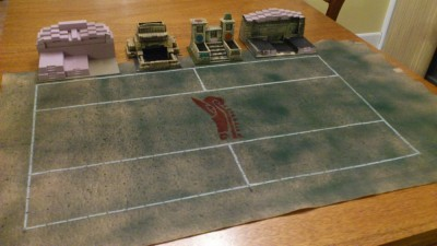 My Blood Bowl Stadium All Laid Out
