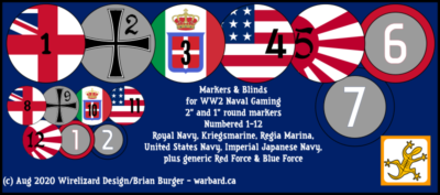 Blinds & Markers for WW2 Naval Gaming