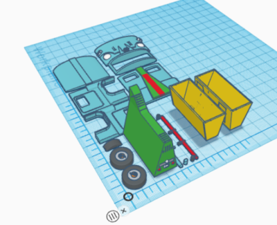 Laid out in TinkerCAD for printing
