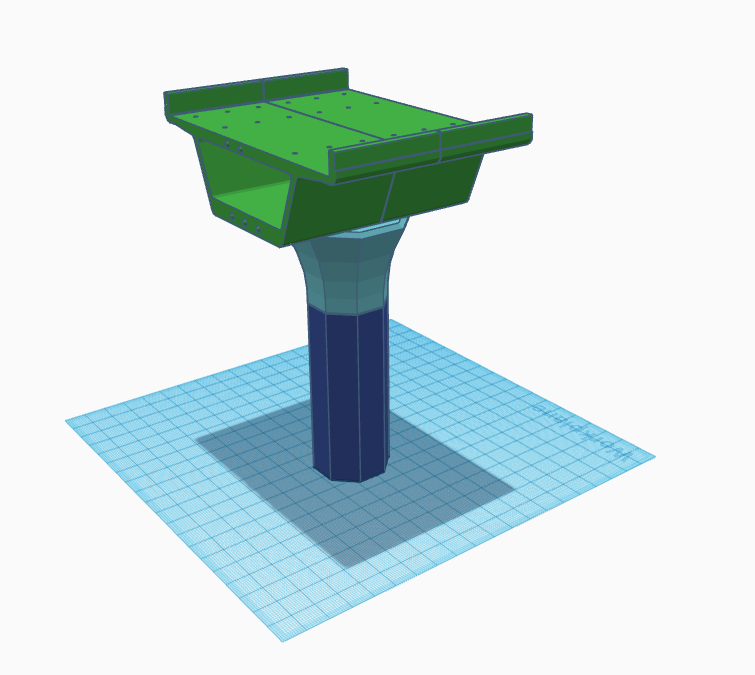 SkyTrain guideway design in TinkerCAD