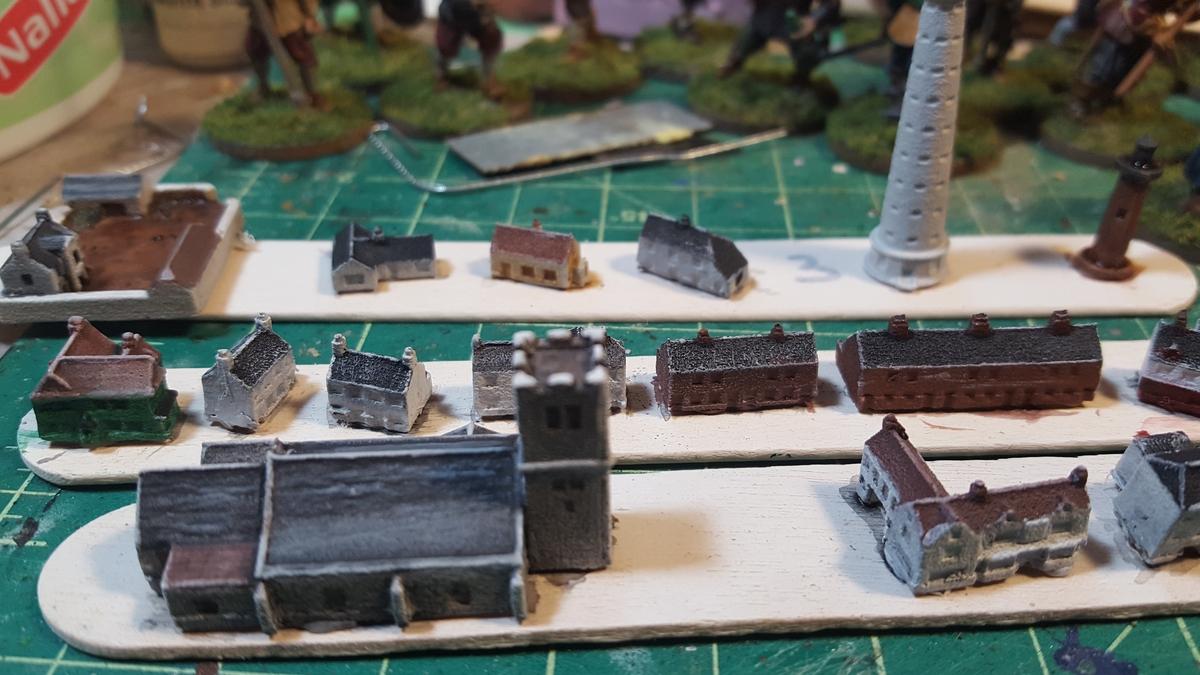 tiny buildings in progress