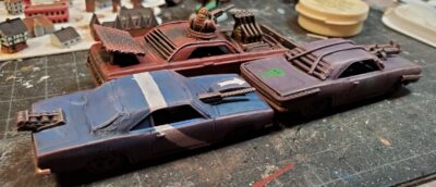 First Three Gaslands Cars Finished