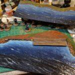 two shoreline segments w new waves