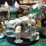 1st of October: Maghariba in bare metal, with the upper gun turret and lower cheek guns just balanced in place.