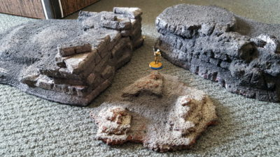 All three initial pieces together, with an Infinity figure on a 25mm wide base for scale. Click for larger.