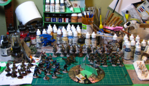 All sorts of things, mostly Russians, being painted. See text for details, and click for larger!